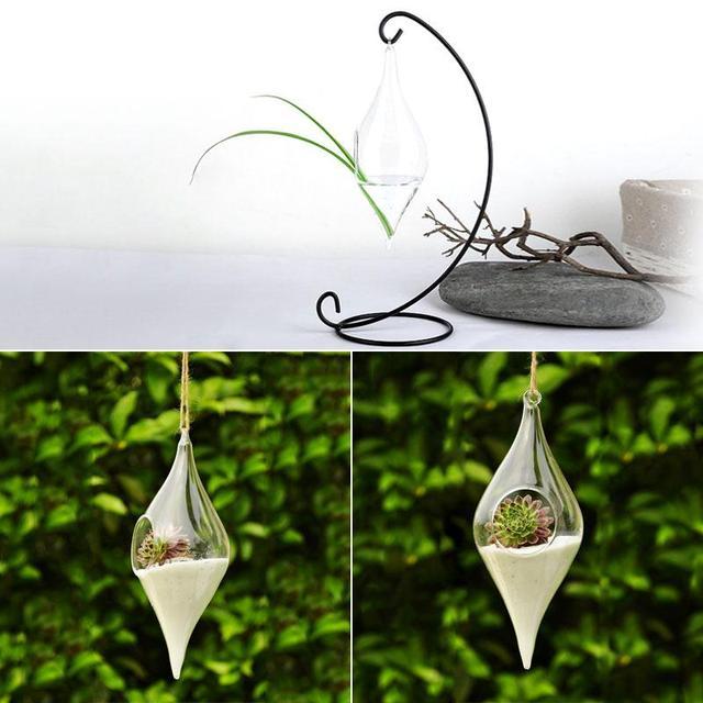 Hanging Glass Vase Hanging Terrarium Hydroponic Plant Flower Clear