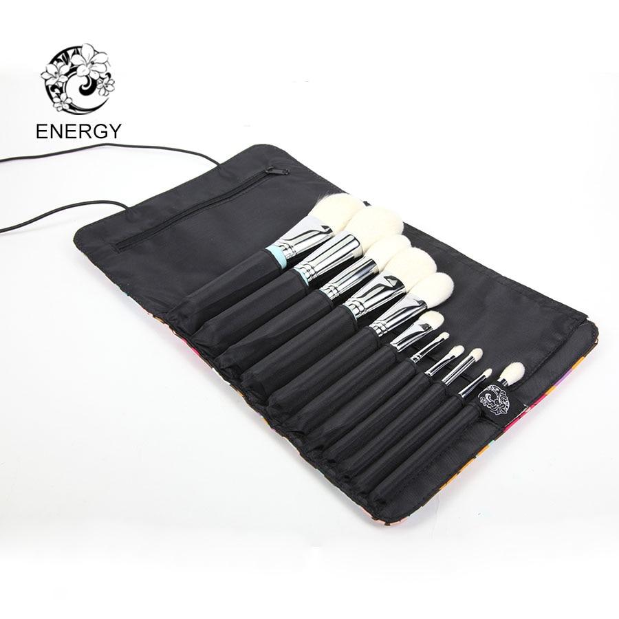 ENERGIA di Marca Professionale 10 pcs Spazzole di Trucco Set Make Up Pennello con il Sacchetto Pincel Maquiagem Brochas Pinceaux Maquillage B11S-in Applicatore per ombretto da Bellezza e salute su  Gruppo 3