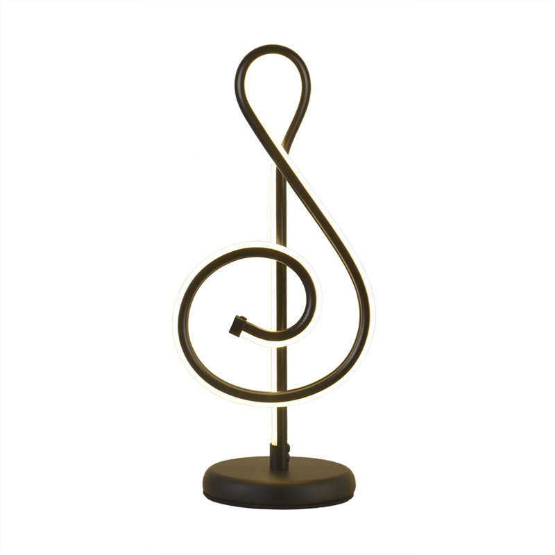Modern Romantic Simple Music Note Heart Remote Control Table Lamp for Wedding Bedroom Kid's Room Birthday Present Light 2242