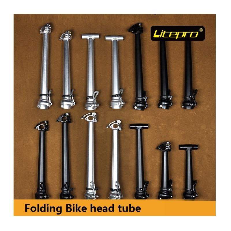 Litepro 42cm 37cm 35cm 29cm Folding Bike Head tube Handlebar 25.4mm / 28.6mm Folding Bicycle Stem Inner Outer Folding Head Pipe цена