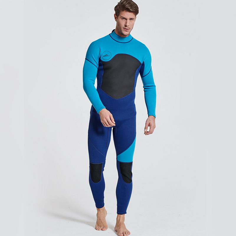 Sbart New One Piece Neoprene 3mm Diving Suit Winter Long Sleeve Men Wetsuit Prevent Jellyfish Snorkeling