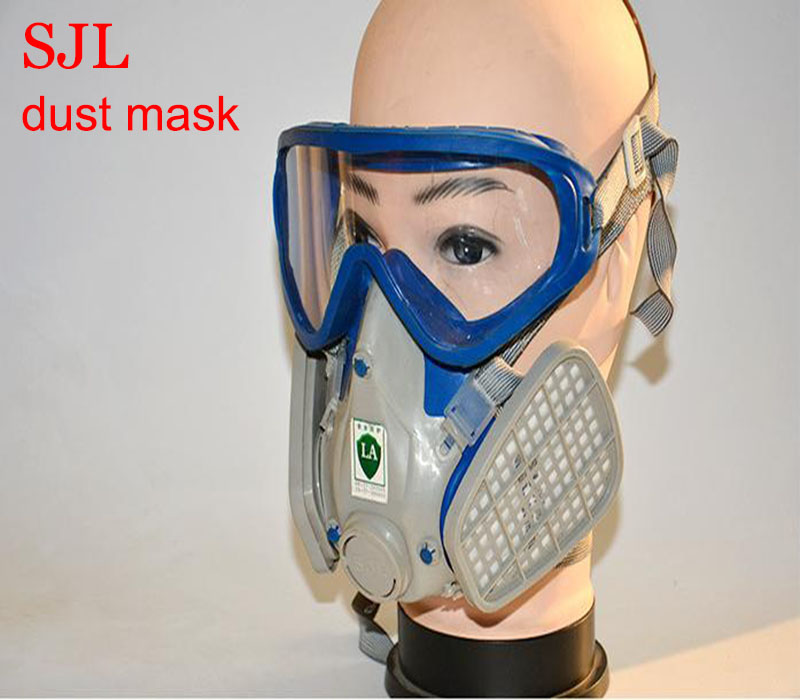 SJL YF2 respirator dust mask high quality full face respirator PC lens against dust particulates PM2.5 respiration mask provide respirator dust mask high quality gray dust mask 10 piece filter cotton painting welding respiration mask