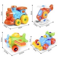 DIY Disassembling Screwdriver Assembled Toys Children Train Car Toy Plane Car Building Blocks Model Tool Educational Hot Wheels