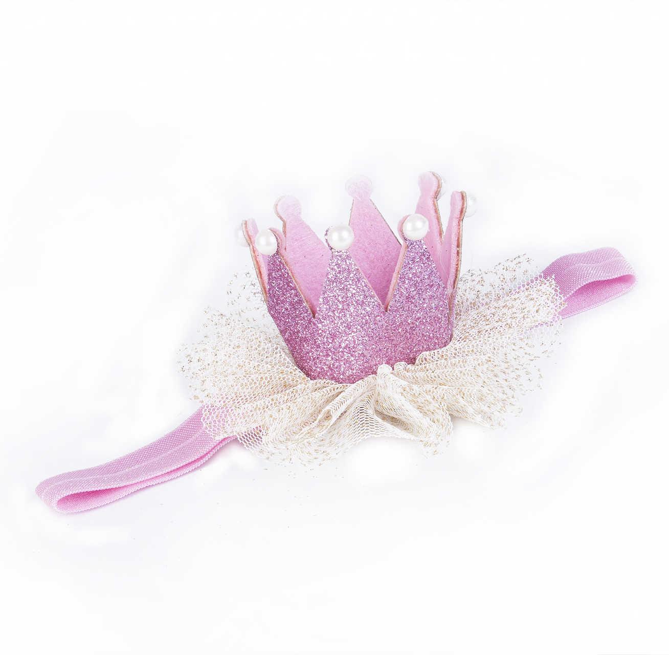 Bebé niñas sombreros Tiara de la princesa malla suave Floral Hairband diadema regalo bebé niños pequeños accesorios de bebé