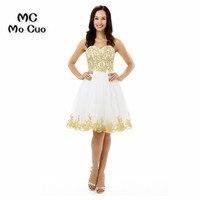 Elegant 8th Grade Prom Dresses Sweetheart A Line Homecoming Dresses 2017 Appliques Beaded Sexy Custom Made