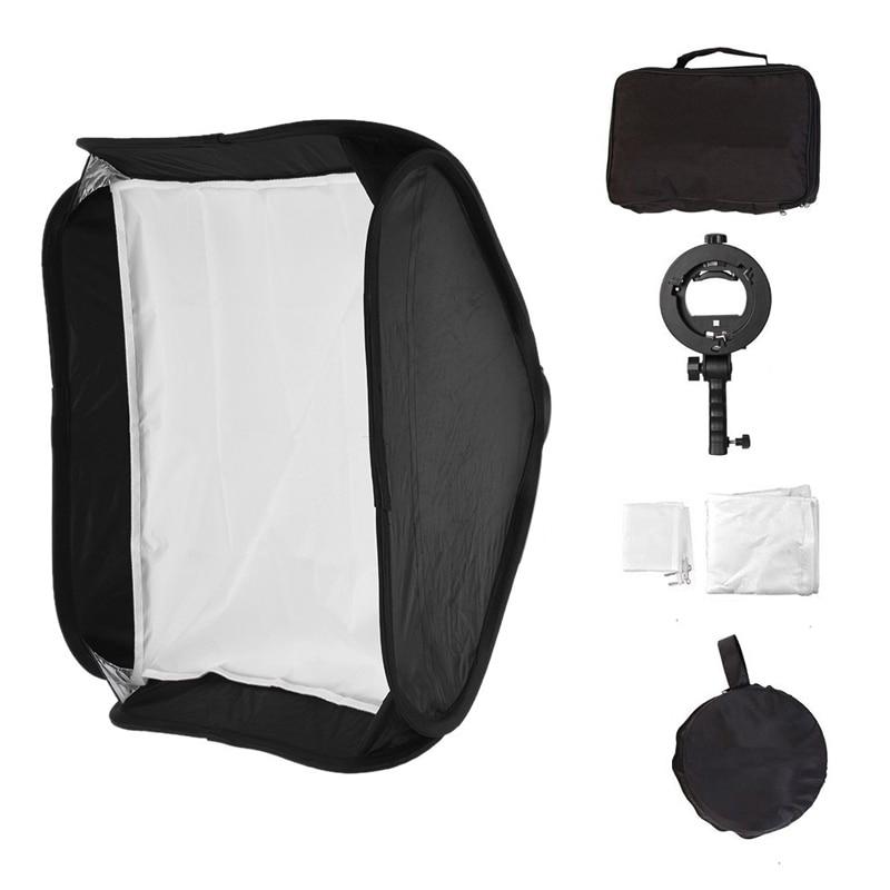 Qualité supérieure 40x40 cm Pliable Flash kit de boîte à lumière + S-Type Support Bowens Mont pour Photo Studio Photographie