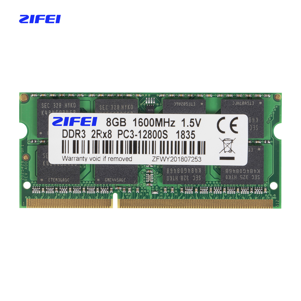 ZIFEI DDR3 RAM 4GB 8GB 1333MHz 1600MHz 1866MHz 1.5V&1.35V Laptop Memory So Dimm