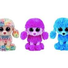 Ty Beanie Boos Pink Patsy Blue Mandy Rainbow Poodle Dog Plush Toy 6   15cm 43b1f977fd42
