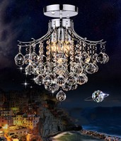 Z Modern LED K9 Crystal Ceiling Lamp With 3 Lights For Living Room Bedroom Lustres De