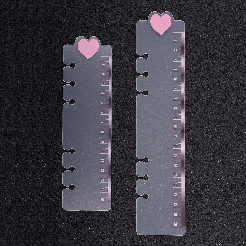 6 Holes Heart PVC Spiral Binder Notebook Divider Inner Ruler For Notebooks Creative Stationery Office School Supplies