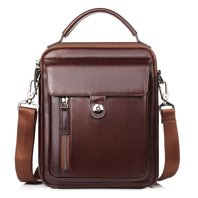 2018 New Genuine Leather Brand Handbag Luxury Designer Men Fashion Men's Bag Shoulder Messenger Bag High quality Business Bags bosch gll 3 80 p bt250 0 601 063 30b