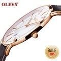 Часы OLEVS мужские  спортивные  водонепроницаемые  ультратонкие  кварцевые  с датой  30 м