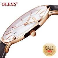 OLEVS Men's Watches Top Brand Luxury Men Sport Wristwatch Waterproof 30m Ultrathin Quartz Watch Date Clock Male Leather Watches
