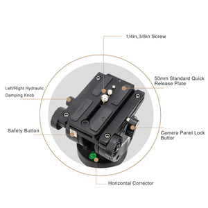 Image 4 - Zomei VT666 מקצועי מצלמה וידאו חצובה עם 360 תואר פנורמי נוזל ראש עבור DSLR למצלמות וידאו, DV, צילום