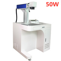 Raycus 20W 30W 50W Fiber Laser Marking Machine Desktop Metal Steel Engraving and Cutting 110V 220V
