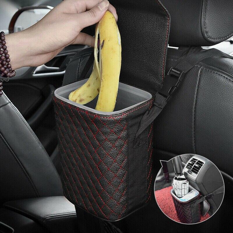 Автомобильная корзина для мусора, органайзер, держатель мусора, сумка для хранения автомобилей, аксессуары, автомобильное дверное сиденье ...