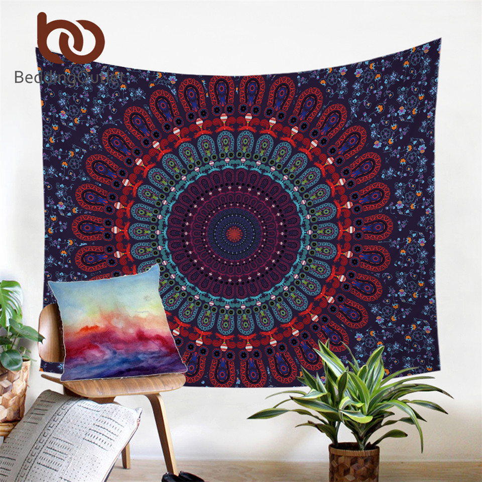 BeddingOutlet Boho Tapestry Love Stretches Dicetak Hanging Wall - Tekstil rumah