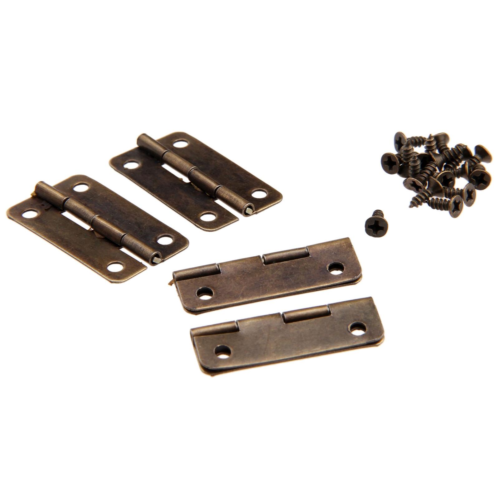 30mm*17mm Antique Bronze Door Hinge Cabinet Drawer Wood Jewellery Box Hinges UK