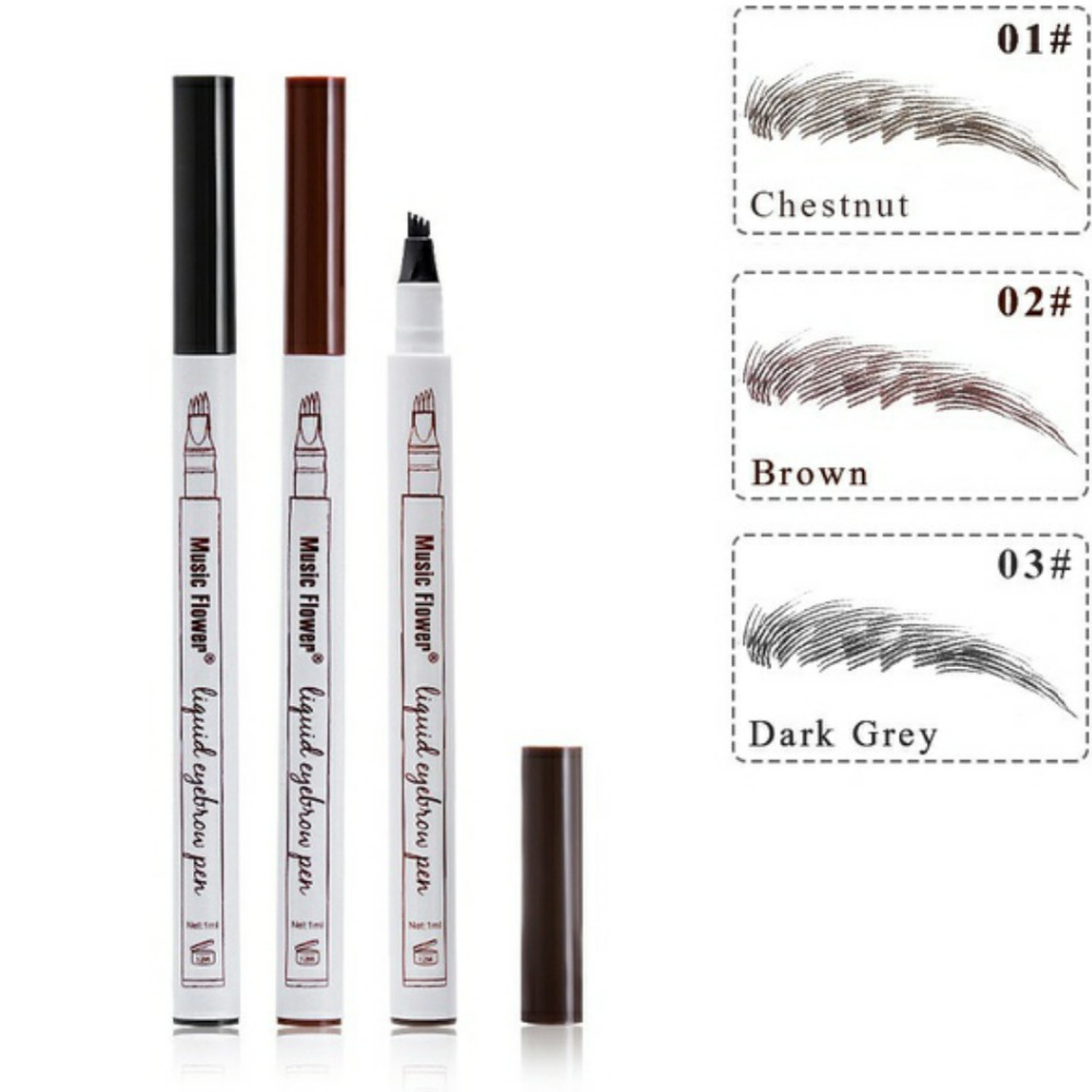 Beauty Essentials Official Website Hot Sale Microblading Eyebrow Tattoo Pen Waterproof Eye Makeup 3 Colors Easy Use Eyebrow Pen Deep Color Pencil Eyebrow Beauty & Health