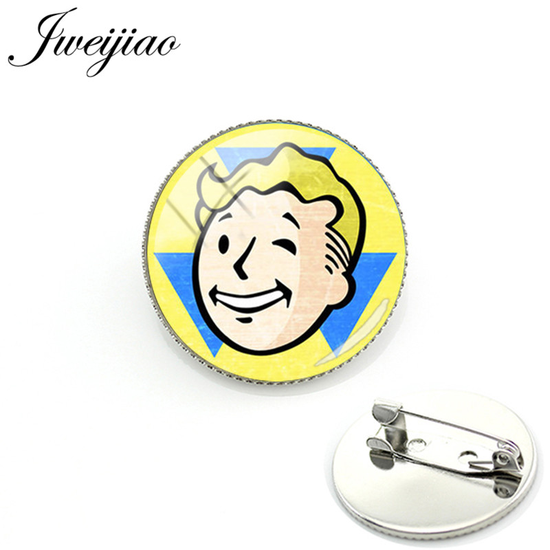 JWEIJIAO Fallout Shelter Brooch Pins Badge Game Photo Glass Cabochon Dome For Bag Clothes Decoration Handmade Jewelry GIft FS17 image