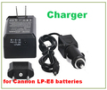 Battery Charger For canon cameras LP-E8 EOS 550D 600D 650D 700 LPE8 Digital camera Replace batteries charger