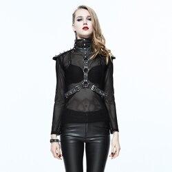 Steampunk Women PU Leather Strap Collar Gothic Skeleton Corset Collar Sexy Rivet Corset Neck Accessories