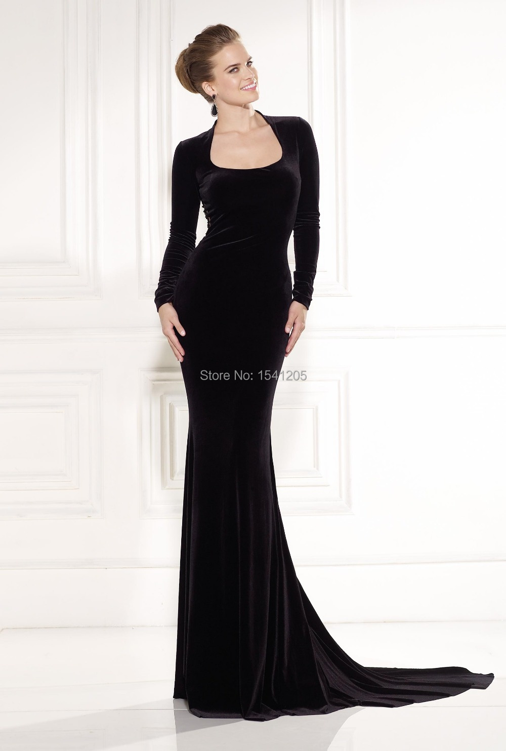 Robe de soiree velours noir