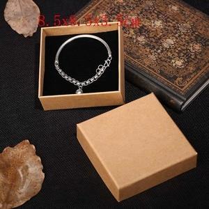 Image 4 - 2019 새로운 20 개/몫 브라운 크래프트 종이 보석 상자 선물 패키지 상자 주최자 매력 반지 시계 귀걸이 보석 상자 도매