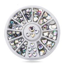 DIY nail art decorations Wheel love AB crystal UV Nail Glitter Rhinestones Tools