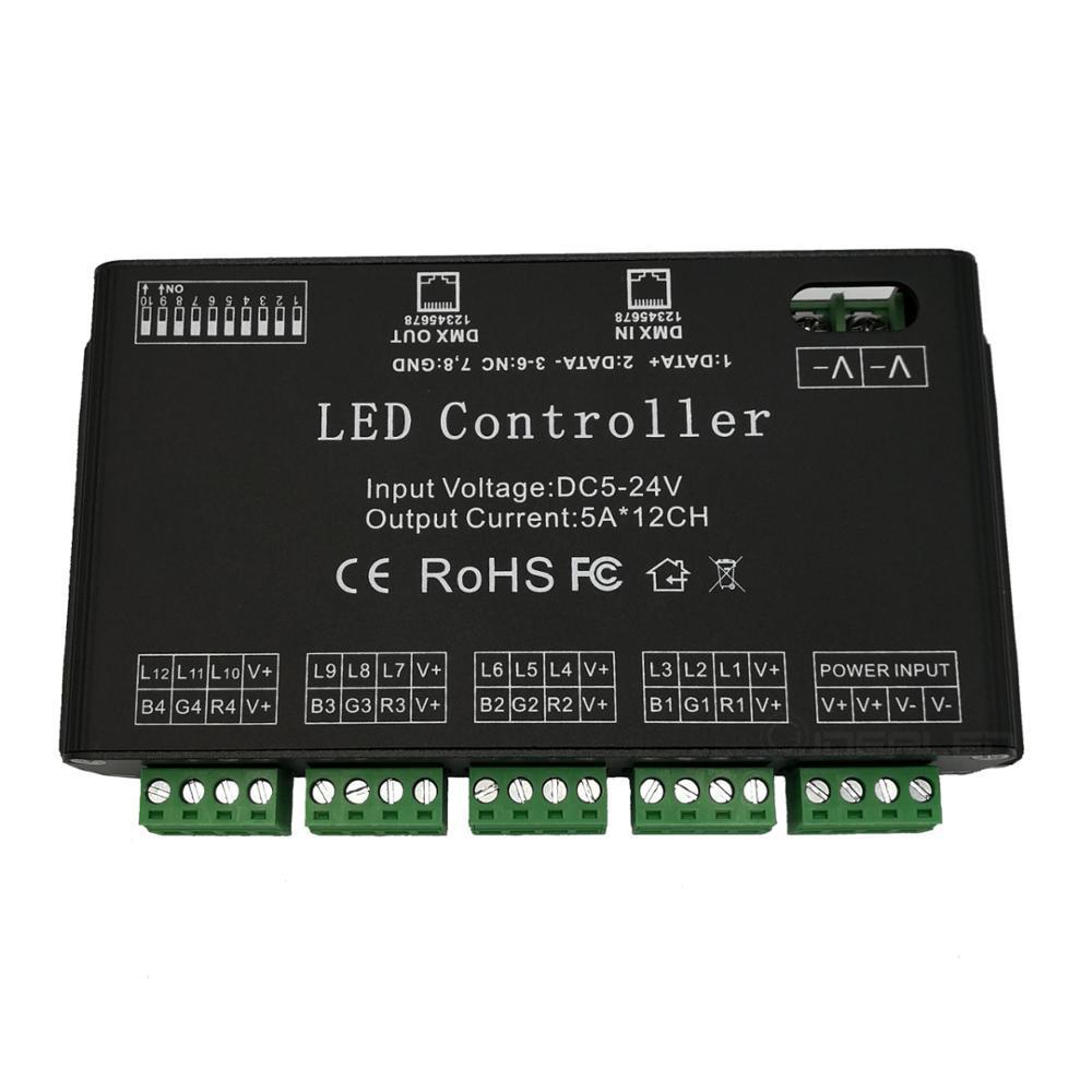 Jednostavno korištenje 12-kanalni dmx512 PWM RGB dekoder 60A DMX - Različiti rasvjetni pribor - Foto 3