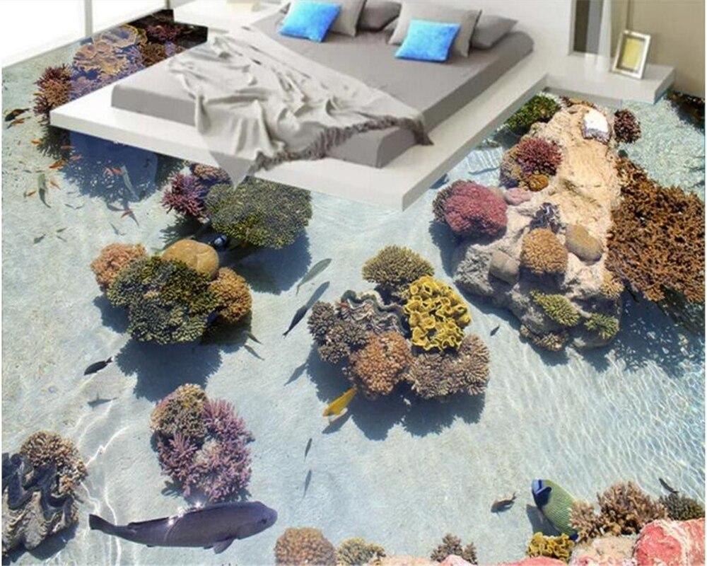 Beibehang Custom Interior Beautiful Mediterranean Wallpaper Coral