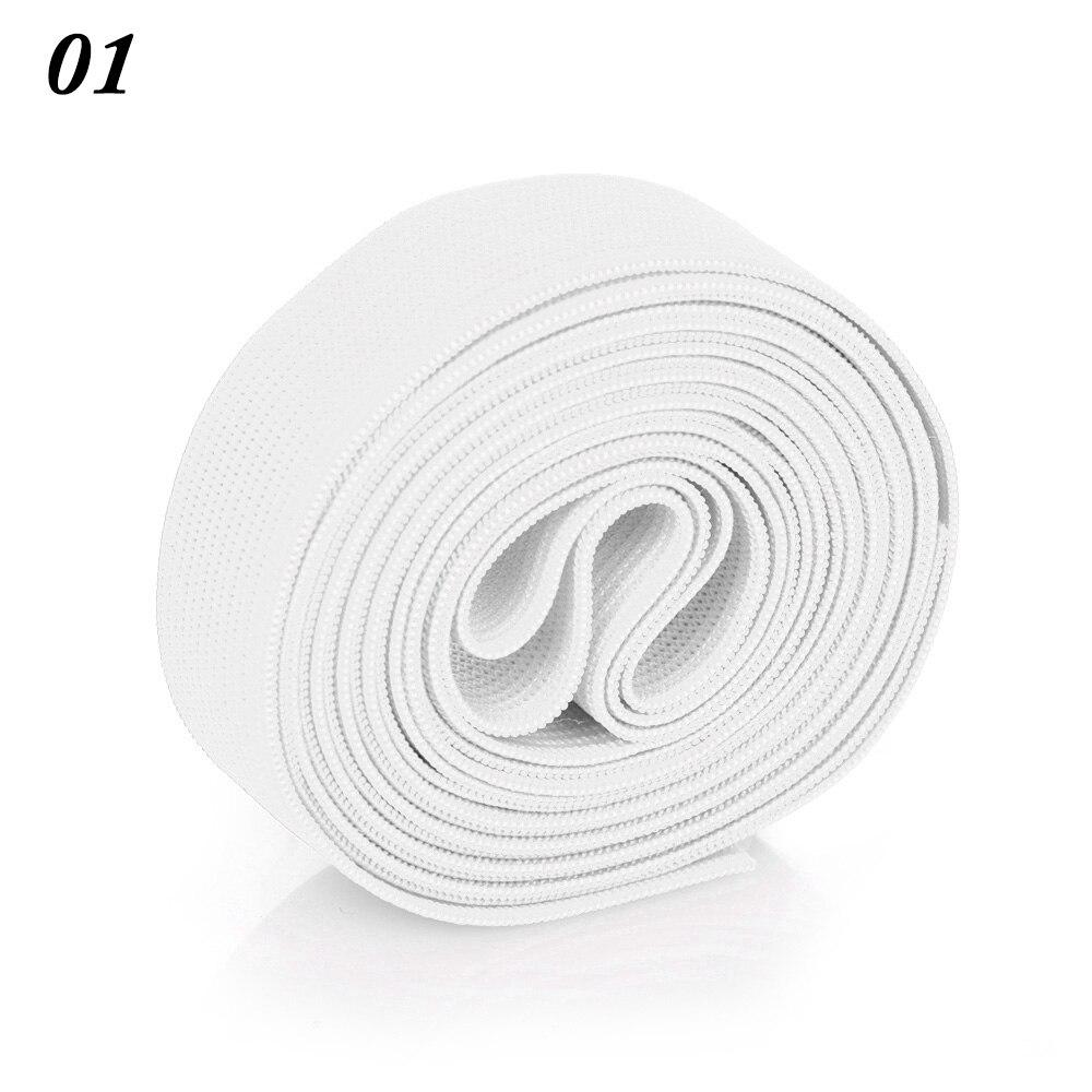 2 м/рулон многофункциональная эластичная лента плотная плетеная резинка из полиэстера шитье из кружева отделка ленты для талии аксессуары для одежды домашний текстиль - Цвет: 1
