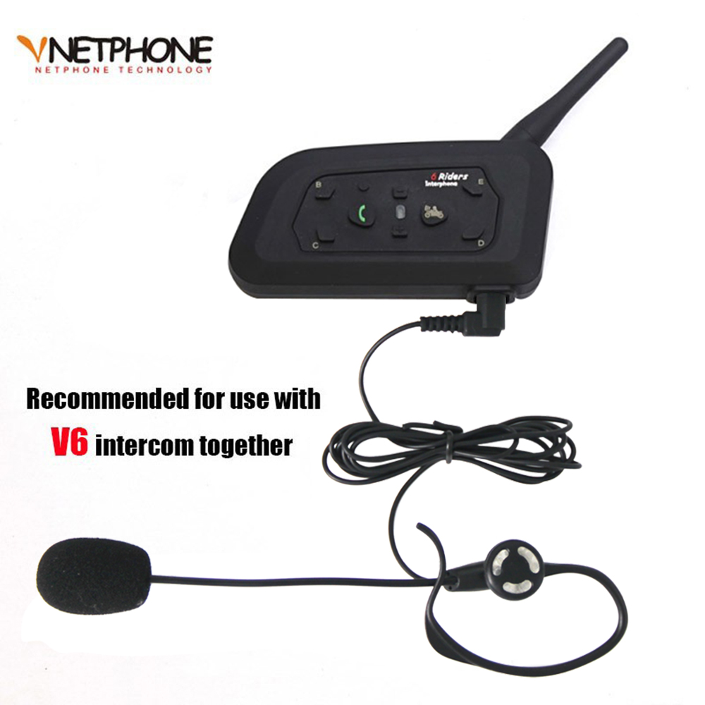 Cascos Football Referee Headset Intercom Kit V6 Arbitration Monaural Earhook Earphone with 1200m Bluetooth Motorcycle Interphone