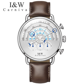 Men watches military fashion full steel leather reloj luxury brand runway Unique design quartz men watches chronograph stopwatch