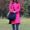 2016 Spring Autumn Winter Coat Original Folk Style Chinese Women Jacket Thin Cotton-padded Coat Slim Cheongsam Women Overcoat