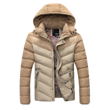 Jacket Men Winter Design 2016 Fit Thick Warm Solid Hooded Windproof Coat Business Overcoats Clothing Parka