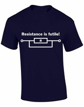 "Geek ""Resistance is Futile"" men t-shirt / 4 Colors"