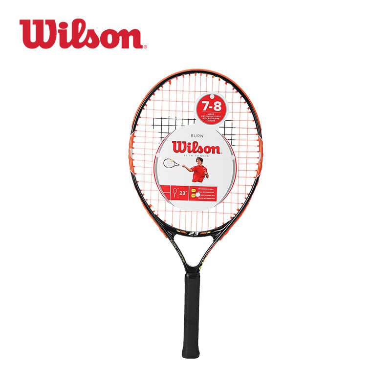 Wilson Children Tennis Racket Suit Lightweight Big Face Learn Wrt209700 Burn Team Carbon Aluminum Alloy  WRT209700