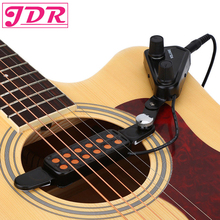 JDR 12-hole Акустическая гитара звуковое отверстие звукосниматель Магнитный преобразователь с регулятором громкости тона 3 м кабель гитарра аксессуары