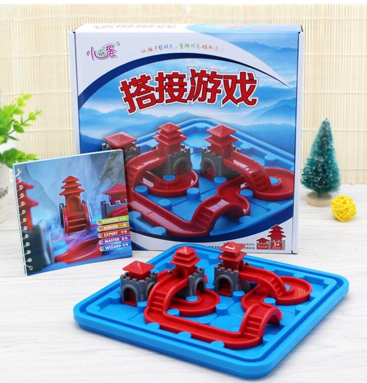 80 niveaux Palais Rodage Jouet Pour Enfants Assemblée Puzzle Jeu Percée Gate Tower Building Block Pont jouet intelligent
