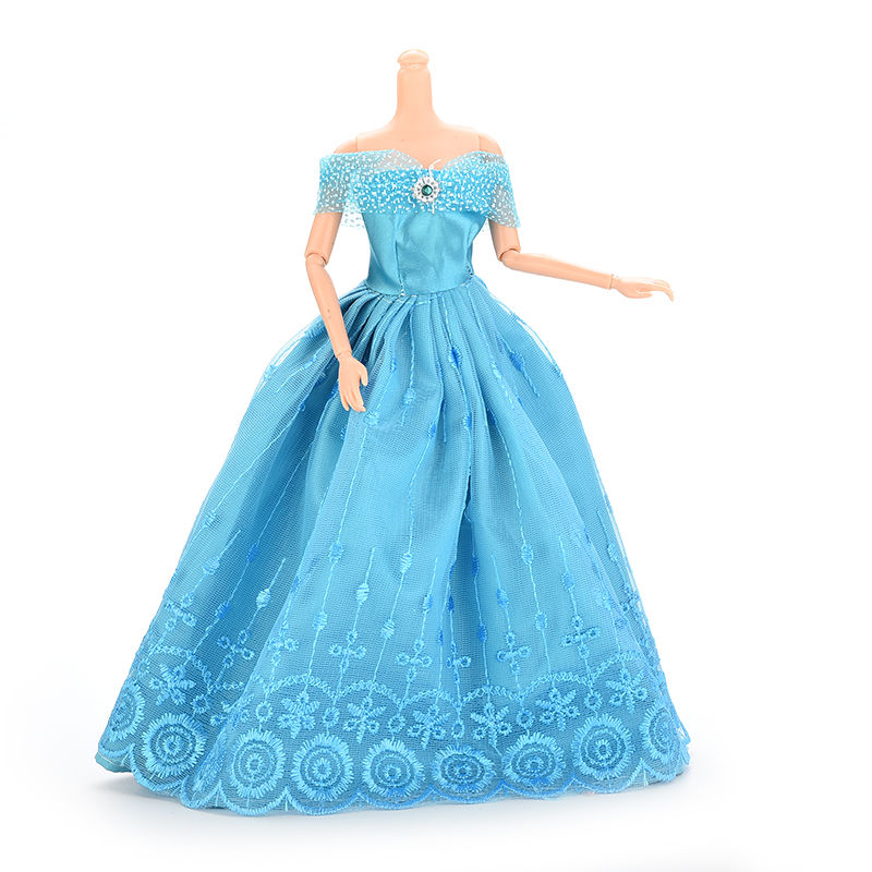 fashion Party Wedding Dress Blue Dress Clothes Gown For