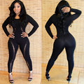 bodycon jumpsuit 2016 sexy club jumpsuits sexy nightclub tight stitching jumpsuit female club rompers womens jumpsuit