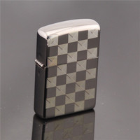 Black and white lattice Gas Cigarette Lighter Cigarettes Kerosene Flint Petrol Vintage Gasoline Lighter Oil Petrol Refillable|Cigarette Accessories|Home & Garden -