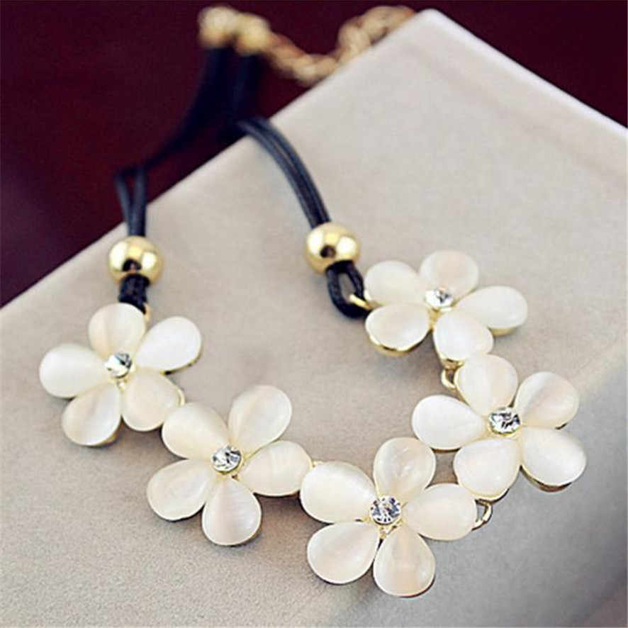 Best Price 2019 Women Fashion Crystal Flower Charm Choker Chunky Statement Bib Chain Necklace  182510##418