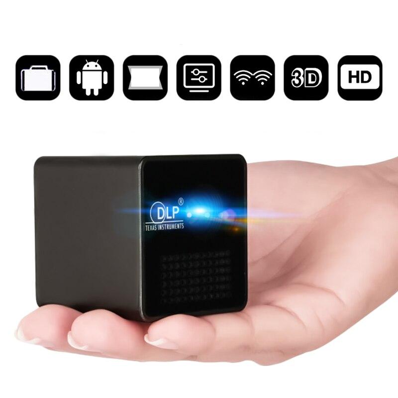 UNIC nouveau Mini projecteur DLP P1 + H Plus connexion sans fil Wifi pour IOS/Android/PC Support Portable DLNA projecteur de film à domicile - 2