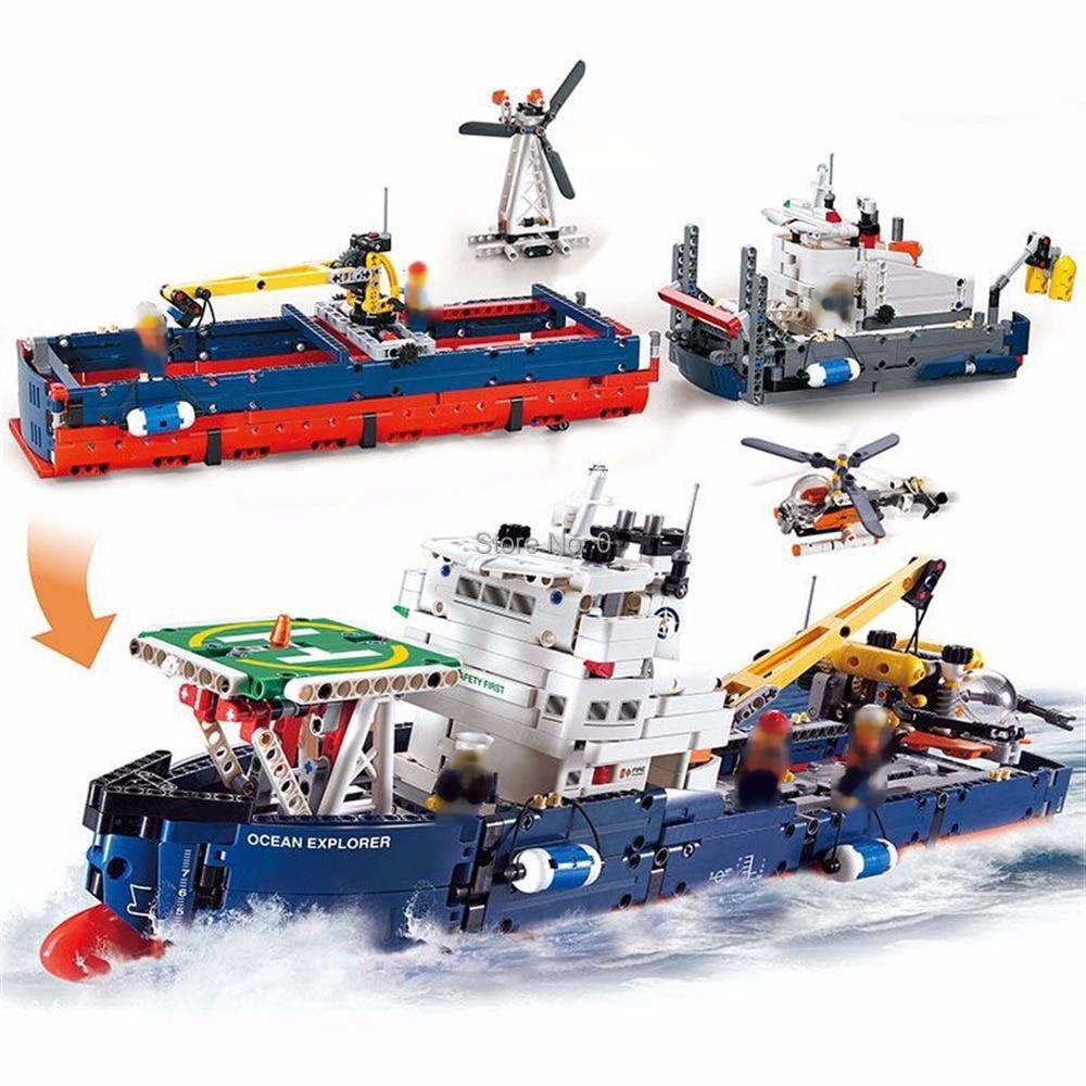 3370 1342pcs 2in1 technic serie oceano explorer building block 42064 Mattoni Giocattolo-in Blocchi da Giocattoli e hobby su  Gruppo 1