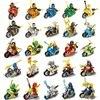 HOT NINJA Motorcycle Sets Kai Jay Cole Zane Nya Lloyd With Weapons Action Toy Figure Blocks