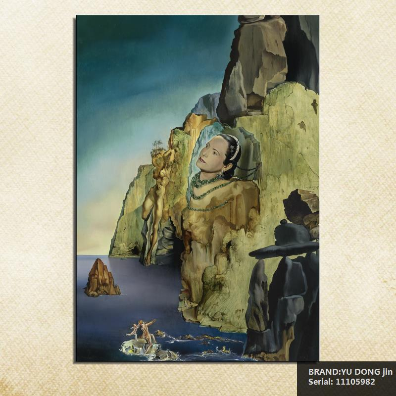 Us 8 69 46 Off Salvador Dali Still Life Abstract Oil Painting Drawing Art Spray Unframed Canvas Wire Airbrush Airbrush Figure Action11105982 In