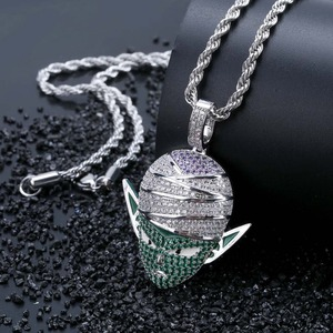 Image 3 - TOPGRILLZ Dragon Ball Character Piccolo Pendant Necklace Iced Out CZ Hip Hop Gold Silver Color Men Women Charms Chain Jewelry