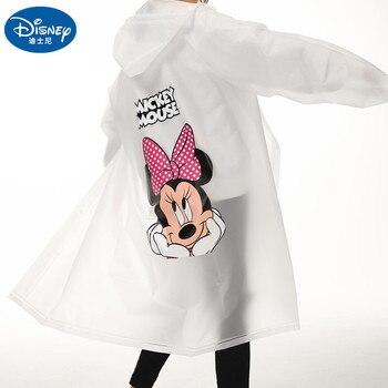 Disney Adult Mickey Minnie Raincoat EVA Material Girls Women Rainproof Poncho Rain gear Boys Rainsuit Travel Walk